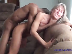 Skinny housewife is horny for BBC fucking again