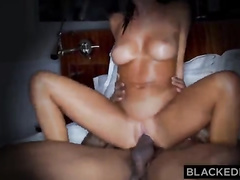 August Ames cheats on her boyfriend with a black bull