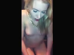 Birthday big black presents for a blonde slut
