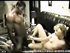 Blonde woman cheats on hubby with skillful black lover