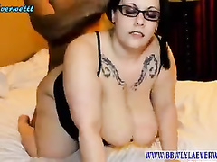 Black man works on BBW's pussy in amateur compilation