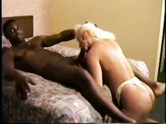 Ebony stud gives blonde wife dicking she needed so much