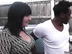 Working woman takes huge black cock