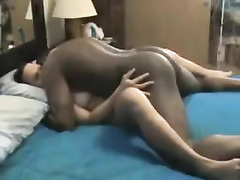 Asian cuckold wife gets big black cock on cam