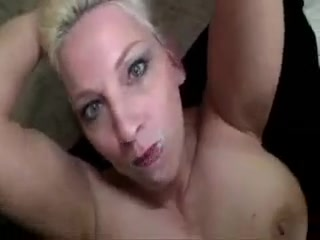Blonde mature mom interracial gangbang