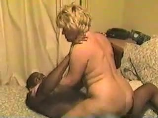Blonde big assed amateur mature wife interracial