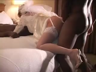 White cuckold wedding-night bride gets 2 bbc's