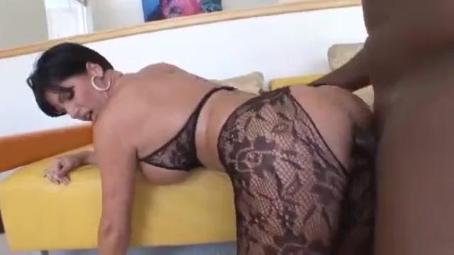 White brunette milf in stocking gets big black dick