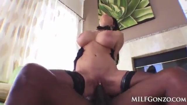 Interracial lingerie mom Teri Weigel bbc hardcore