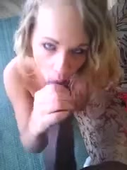 Your blonde young white wife gets bbc in her mouth