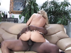 Beautiful blonde milf Savanna Samson gets brutally blacked