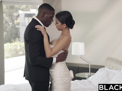 Sexy bride gets blacked by BBC